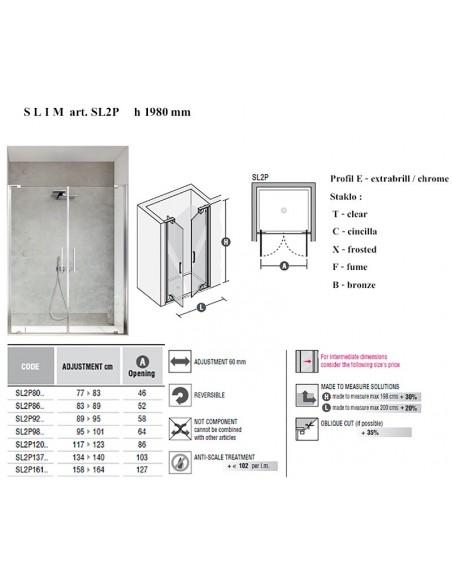 SLIM art SL2P    vrata x 2 kom