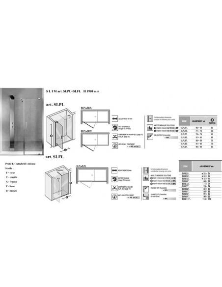 SLIM art.SLPL+SLFL  vrata + strana
