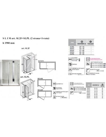 SLIM art.SL2F+SLPL stranax2kom + vrata
