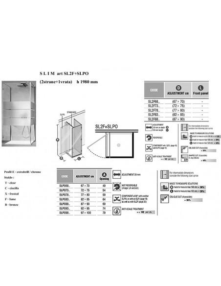 SLIM art.SL2F+SLPO strana x 2kom + vrata