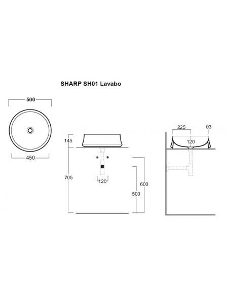 SHARP SH01 Lavabo