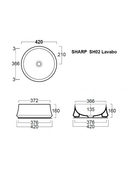 SHARP SH02 Lavabo
