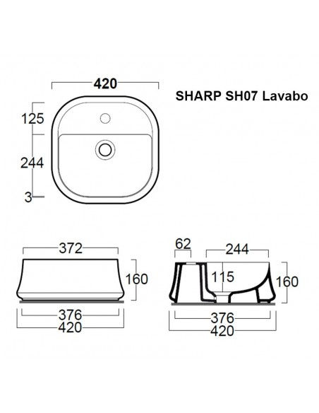 SHARP SH07 Lavabo