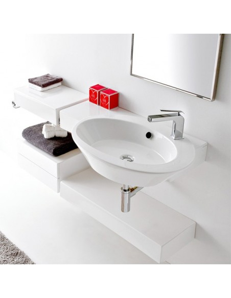 WISH art.2012 Lavabo SX 87x52x12h