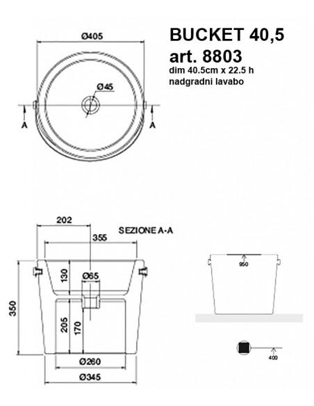BUCKET art.8803 fi40,5 dim 40,5x22.5h