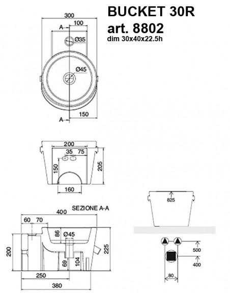 BUCKET art.8802 30R dim 30x40x22.5h