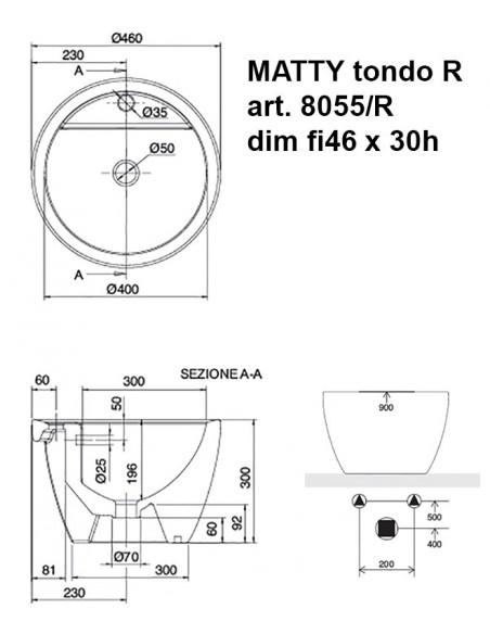 MATTY tondo art.8055/R  dim fi46x30h
