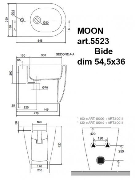 MOON art.5523 Bide dim 54,5x36