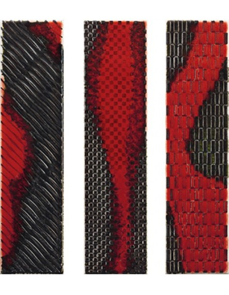SLASH dekor SLSH DK 73R Red dim 7.5x30- Imola Ceramica
