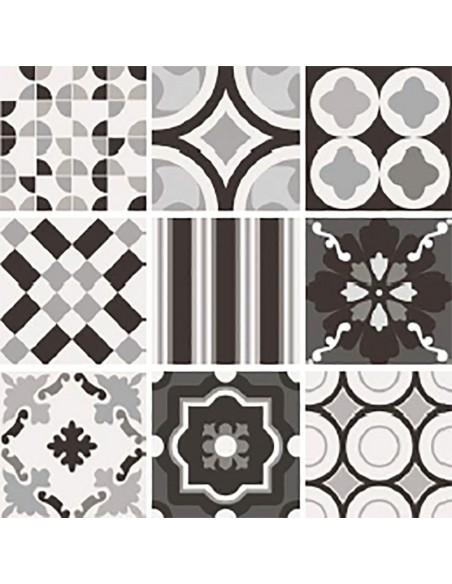 PATCHWORK BLACK&WHITE Mix 20x20, White 20x20, Black 20x20 -Sant'Agostino