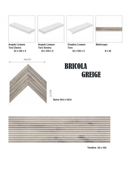 BRICOLA GREIGE - Rondine