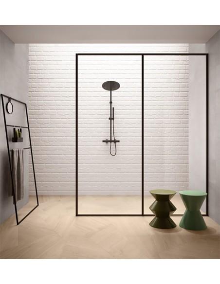 SET Wood Metrowood Natural ,Concrete Pearl i Wall White - Sant`Agostino