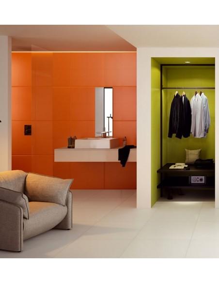 FLEXIBLE ARCHITECTURE Technic pod WHITE 4B   zid Green Flexi B mat, Orange Flexi 2 Mat-Sant`Agostino