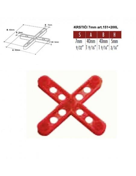 KRSTIĆI 7 mm za pločice art.151+200L - Raimondi