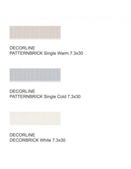 PATTERNBRICK SINGLE i DECORBRICK dim 7,3x30 cm - Sant`Agostino