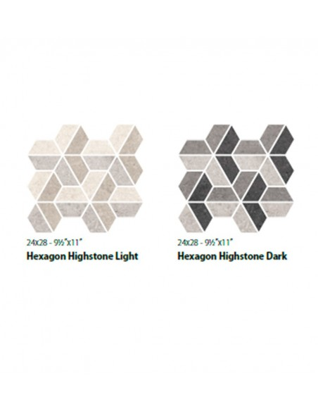 HIGHSTONE HEXAGON LIGHT i DARK 24x28 - Sant`Agostino