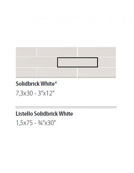 NEWDOT SOLIDBRICK WHITE + LISTELLO 1.5x75 - Sant`Agostino
