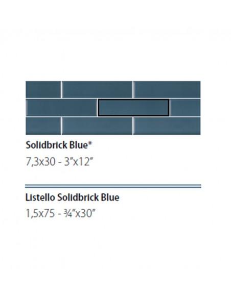 NEWDOT SOLIDBRICK BLUE + LISTELLO 1.5x75 - Sant`Agostino