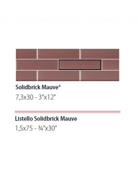 NEWDOT SOLIDBRICK MAUVE + LISTELLO 1.5x75 - Sant`Agostino