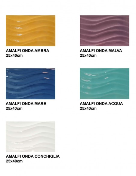 AMALFI ONDA 25x40cm - Idea Ceramica