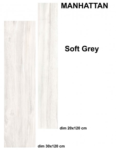 MANHATTAN indoor SOFT GREY - Idea Ceramica