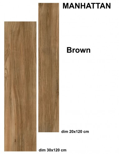 MANHATTAN indoor BROWN - Idea Ceramica