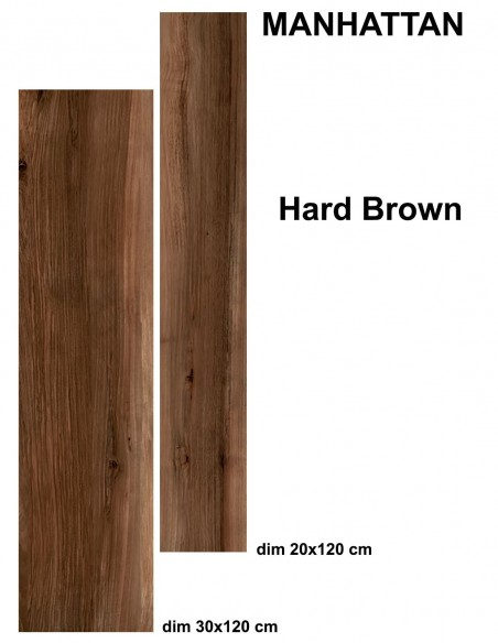 MANHATTAN indoor HARD BROWN - Idea Ceramica