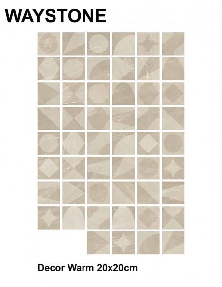WAYSTONE Decor Warm 20x20cm - Sant`Agostino