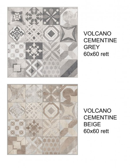 VOLCANO CEMENTINE Grey i Beige 60x60  - Rondine