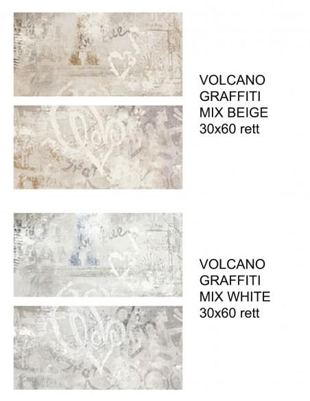 VOLCANO GRAFFITI MIX  Beige i White 30x60  - Rondine