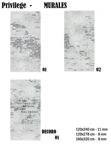Bottega 225 PRIVILEGE PE MURALES 01, 02 I Decoro 01 - Mirage