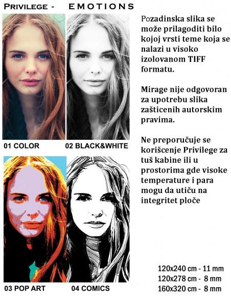Bottega 225 PRIVILEGE PE EMOTIONS Color, Black&White, Pop Art, Comics creat your emotions - Mirage