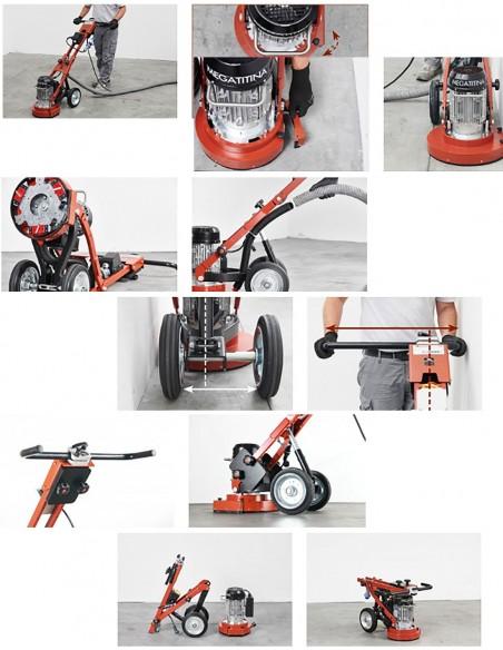 MEGATITINA 334 HT400V i 334 HT230V Električna mašina za brušenje,ravnanje,poliranje i čišćenje - Raimondi